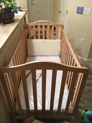 New Convertible Baby Crib + New Mattress still in cover + New Pillow for Sale in Ashburn, VA