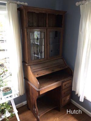 Craftsman hutch with desk antique oak furniture for Sale in Portland, OR