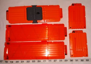 Nerf Magazines and magazine attachment $5 for All pu in Franklin for Sale in Franklin, IN