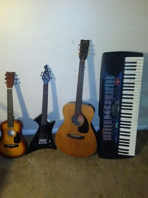 Guitars, a piano, amplifier and microphone for Sale in Greenbelt, MD