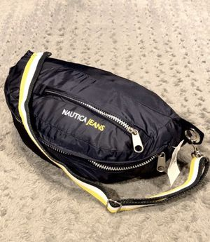 New! Mens Nautica jeans Messenger bag paid $48 Brand new with tags. Measurements approx 16in long, 9.5 in high for Sale in Washington, DC