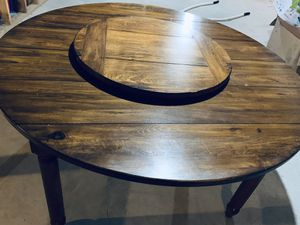 "60"" round solid hickory dining table- USA made for Sale in North Fond du Lac, WI"