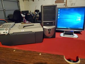 Computer, Printer/Scanner/Copier, Keyboard, and Mouse for Sale in Flint, MI