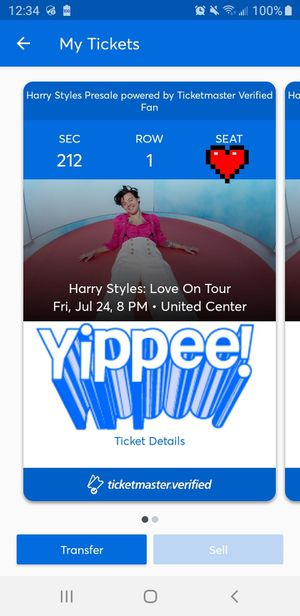 Harry Styles concert tickets - United Center Row 1 for Sale in Oak Forest, IL