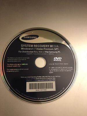 Microsoft Windows 7 Recovery Disc for Sale in West Palm Beach, FL