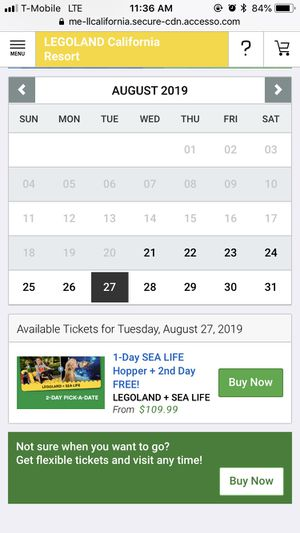 4 Legoland Tickets for $200 for Sale in San Diego, CA