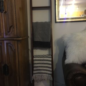 Solid Wood Blanket Ladder Walnut Stain Farmhouse Decor for Sale in Alexandria, VA