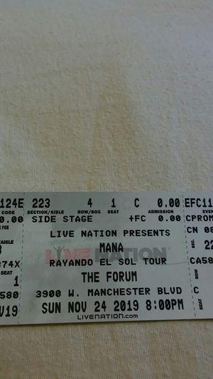 Boletos concierto de MANA for Sale in South Gate, CA