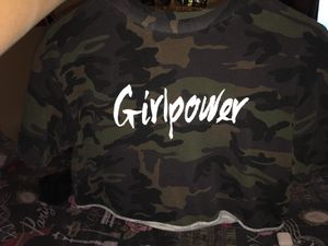 Camo girlpower cropped shirt for Sale in Lakewood, CO
