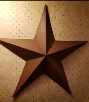 3 foot rustic barn star with hanger for Sale in Farmville, VA