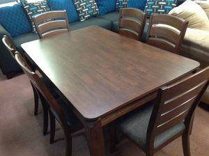 Wooden dining table with chairs for Sale in Denver, CO