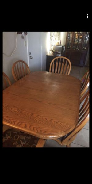 Oak dining table and chairs for Sale in Stockton, CA