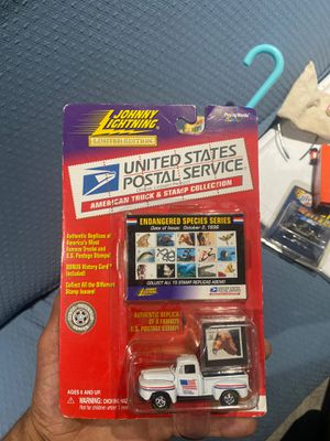 Limit addition Jonny lightning hot wheels United States Postal Service truck stamp collection for Sale in Rancho Cucamonga, CA