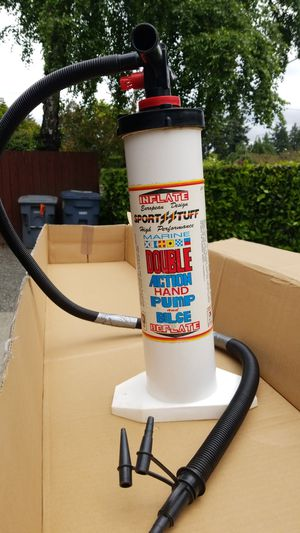Inflate European design sports stuff hide performance marine double action hand pump and bilge for Sale in Tacoma, WA