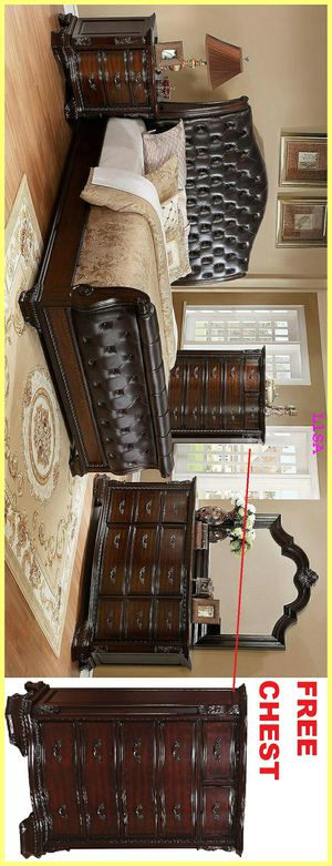 Brand New Nuevo 4 Piece(Bed Frame-Dresser- Mirror-Nightstand)Queen Size. King Size Also Available for Sale in Houston, TX