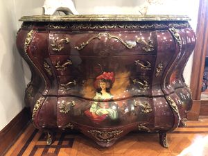 Antique oil painted furniture like new with marble for Sale in Baltimore, MD