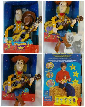 Mattel Strummin Singin Toy Story 2 Disney Pixar Woody Doll Figure Guitar Strumming Singing for Sale in Homestead, FL