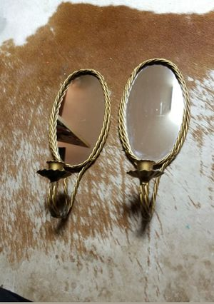 Vintage wall sconces mirror candle decorations for Sale in Dallas, TX