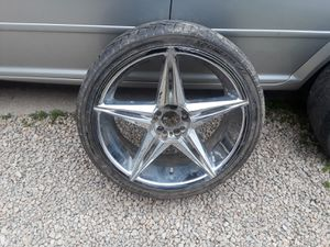 3 20 inch rims and tires for Sale in Neenah, WI