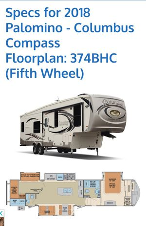 Fifth Wheel Rv 2018 Palomino Columbus Compass Series for Sale in McAllen, TX