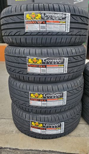 215 45 17 LIONHART TIRES for Sale in Rancho Cucamonga, CA