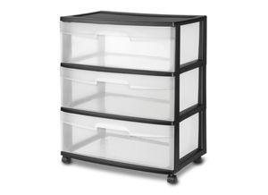 3 drawer cart plastic black for Sale in DEVORE HGHTS, CA