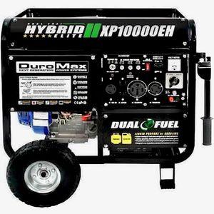 DuroMax 10,000 WATT Dual Fuel Hybrid Propane/Gasoline Powered Generator, Black XP10000EH for Sale in Cave Creek, AZ