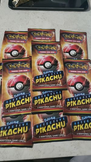 10 Detective Pikachu Pokemon Cards for Sale in Downey, CA
