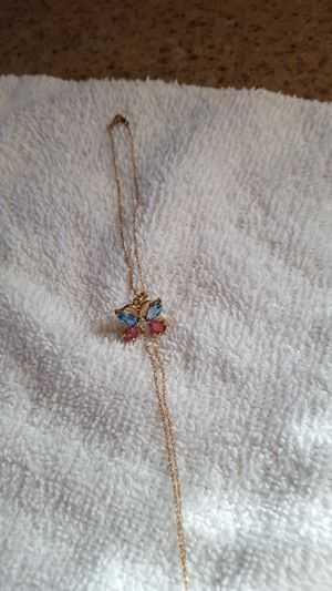 BRAND NEW Butterfly Necklace with diamond , tanzanite for Sale in Champaign, IL