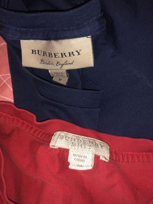 Blue and Red Burberry T-shirts for Sale in Baltimore, MD
