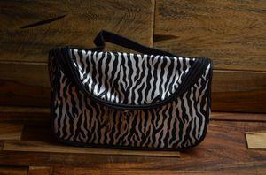 Zippered zebra cosmetic makeup travel bag cosmetic storage case organizer for Sale in Walnut, CA