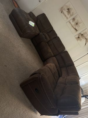 Faux leather sectional couch for Sale in Allentown, PA