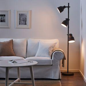 Ikea HEKTAR Floor lamp w/3-spots and LED bulbs, dark gray - IKEA for Sale in Fremont, CA