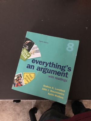 English 101 Textbook: Everything's an argument by Andrea A. Lunsford. for Sale in Menifee, CA