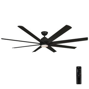 Home Decorators Collection Kensgrove 72 in. LED Indoor/Outdoor Matte Black Ceiling Fan with Light and Remote Control NEW for Sale in Plantation, FL