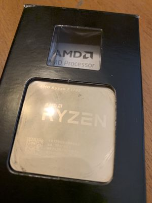Amd ryzen 1700 with led cooler - $160 OBO for Sale in Stockton, CA