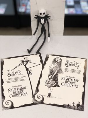Tim Burton's The Nightmare Before Christmas Disney's 1993 Movie Pre-Screening Rare Post Cards for Sale in Tampa, FL