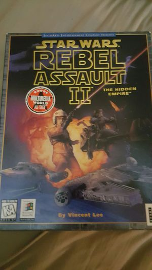 Star Wars Rebel Assault 2 hidden Empire computer game for Windows 98 for Sale in Littleton, CO