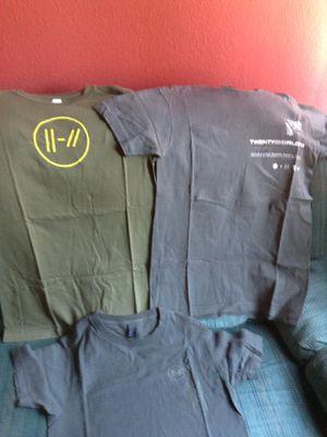 Shirt,shirts,concert shirts,twenty one pilots concert shirts. for Sale in Fontana, CA