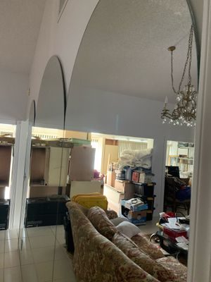 3 pieces Set of Mirror already removed from the wall in Great Condition Asking $380. All Obo for Sale in Boca Raton, FL