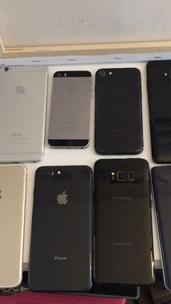 Mixed Lot iPhones (5) iPhones Great Condition;galaxy S8, Galaxynote5,tmobile Phone for Sale in Laguna Niguel,  CA