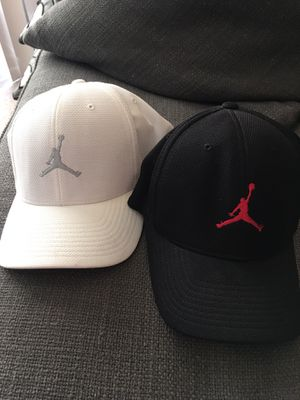 NEW Michael Jordan Hats baseball caps . Price is for both. Size S/M Adult. Pickup in bloomingdale for Sale in Bloomingdale, IL