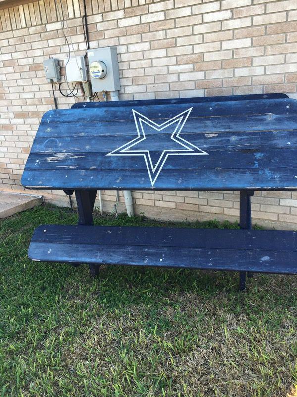 Dallas Cowboys Picnic Table For Sale In Edinburg Tx Offerup