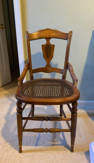 Antique Wicker/Cane Seat Chair @1900's for Sale in Livermore, CA