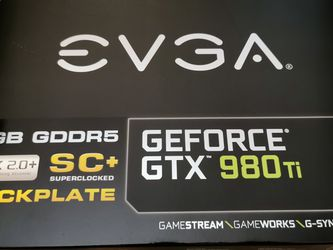 EVGA GTX 980ti. Nvidia for Sale in Seattle,  WA
