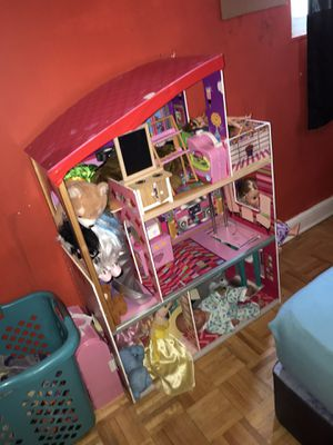 Tall/large doll house with ALL toys included for Sale in NEW CARROLLTN, MD