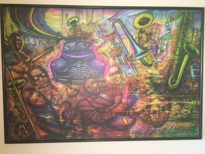 "Famed Mexican Artist Alejandro Romero ""Chicago 1986"" Signed Print for Sale in Alexandria, VA"