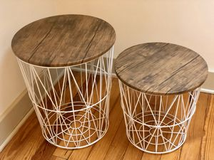 storage baskets / coffee table set for Sale in Bloomington, IN