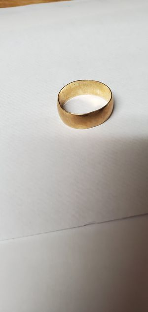 Mens wide gold wedding band for Sale in Glen Raven, NC