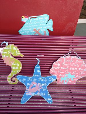 4 wooden beach themed plaques/signs for Sale in Fort Myers, FL